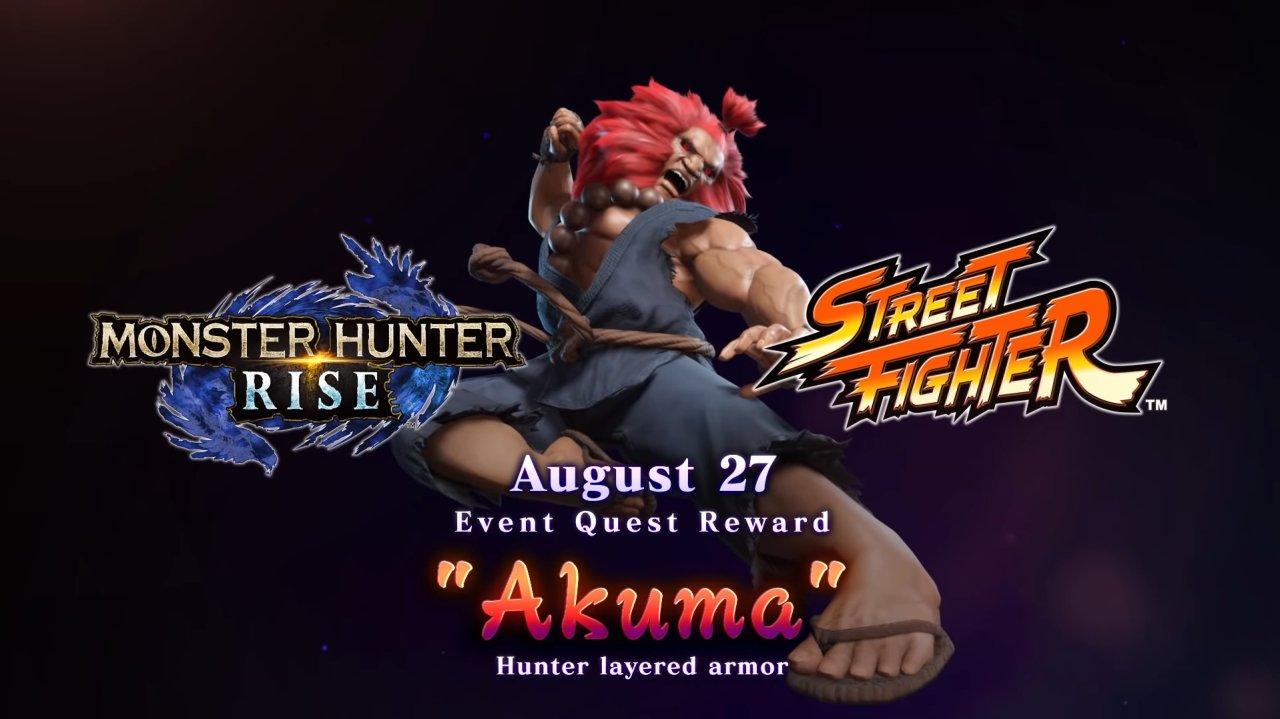 Monster Hunter Rise Akuma Capcom collab dlc