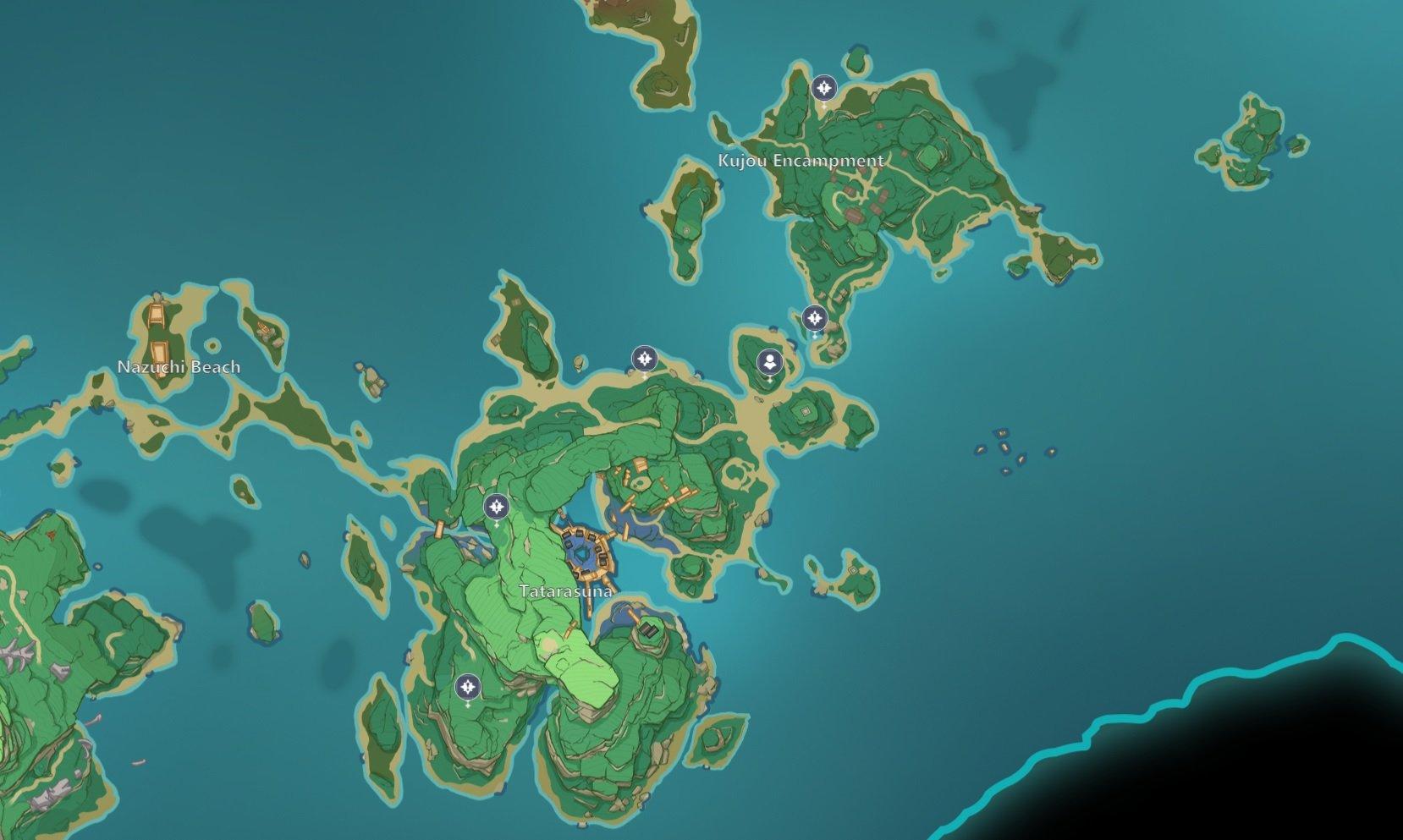 Thunder Sakura locations Genshin Impact inazuma
