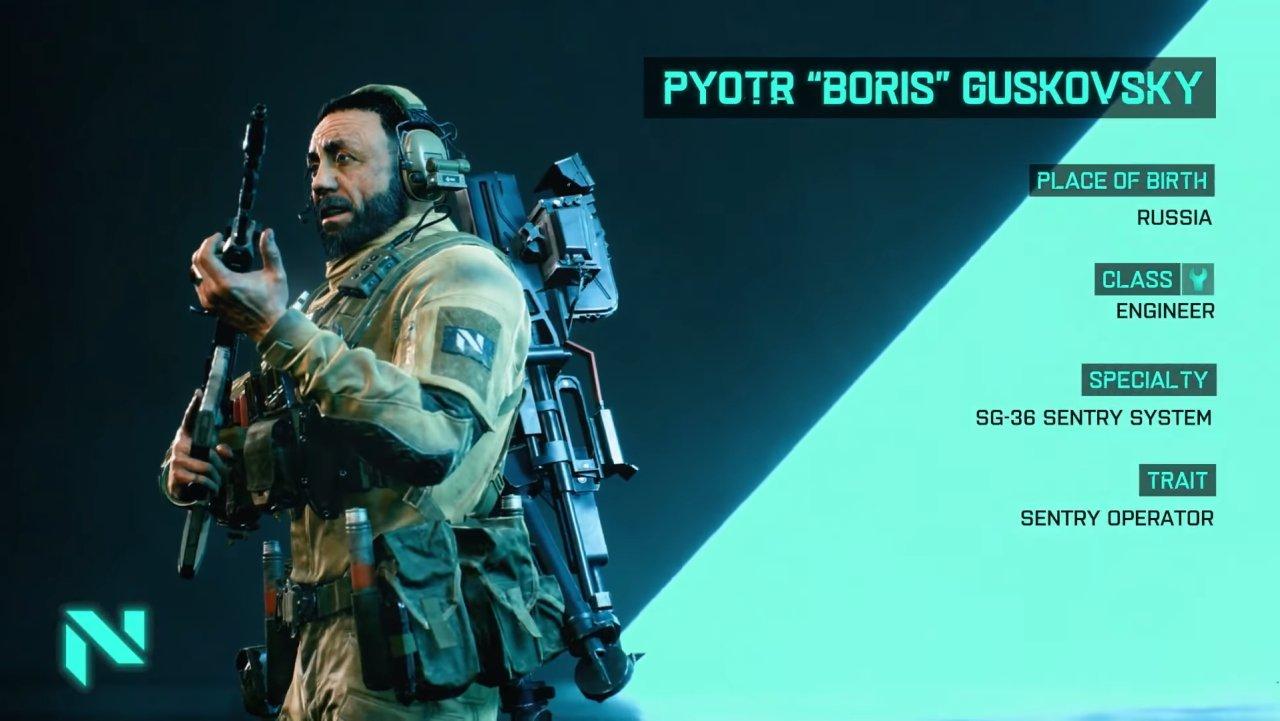 Battlefield 2042 specialists classes engineer boris