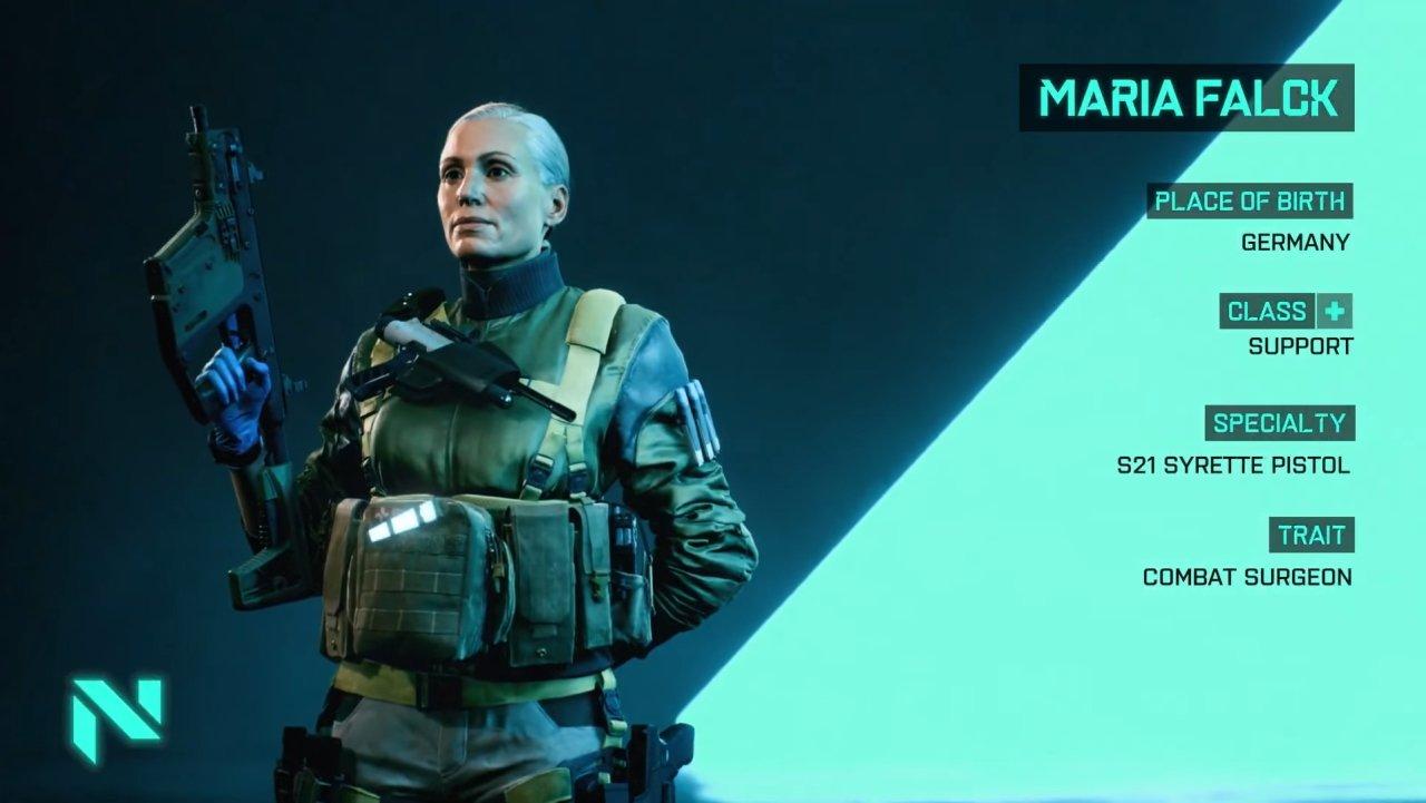 Battlefield 2042 specialists list support maria falck