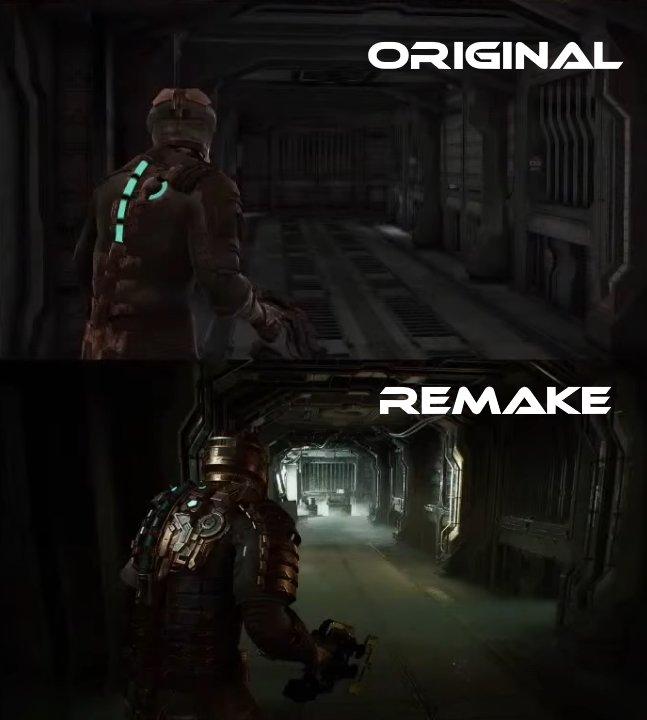 Dead Space remake comparison gameplay