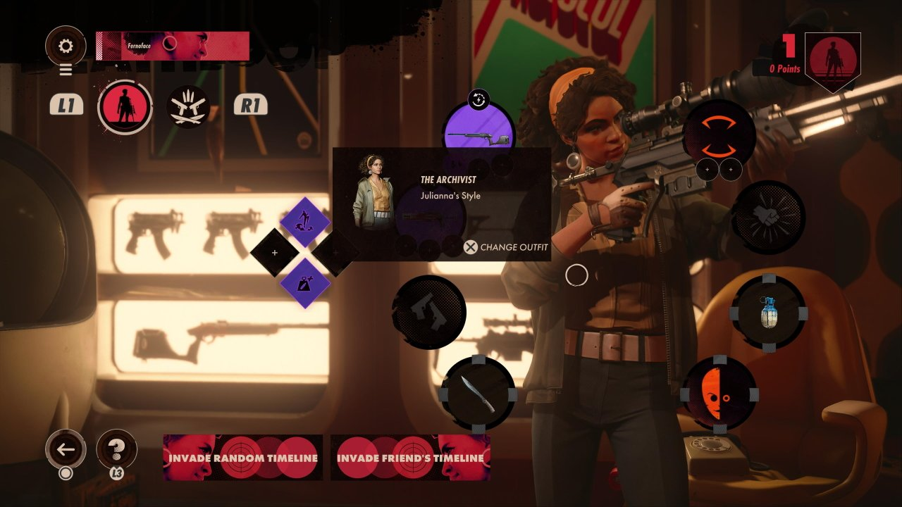 Deathloop how to change outfits