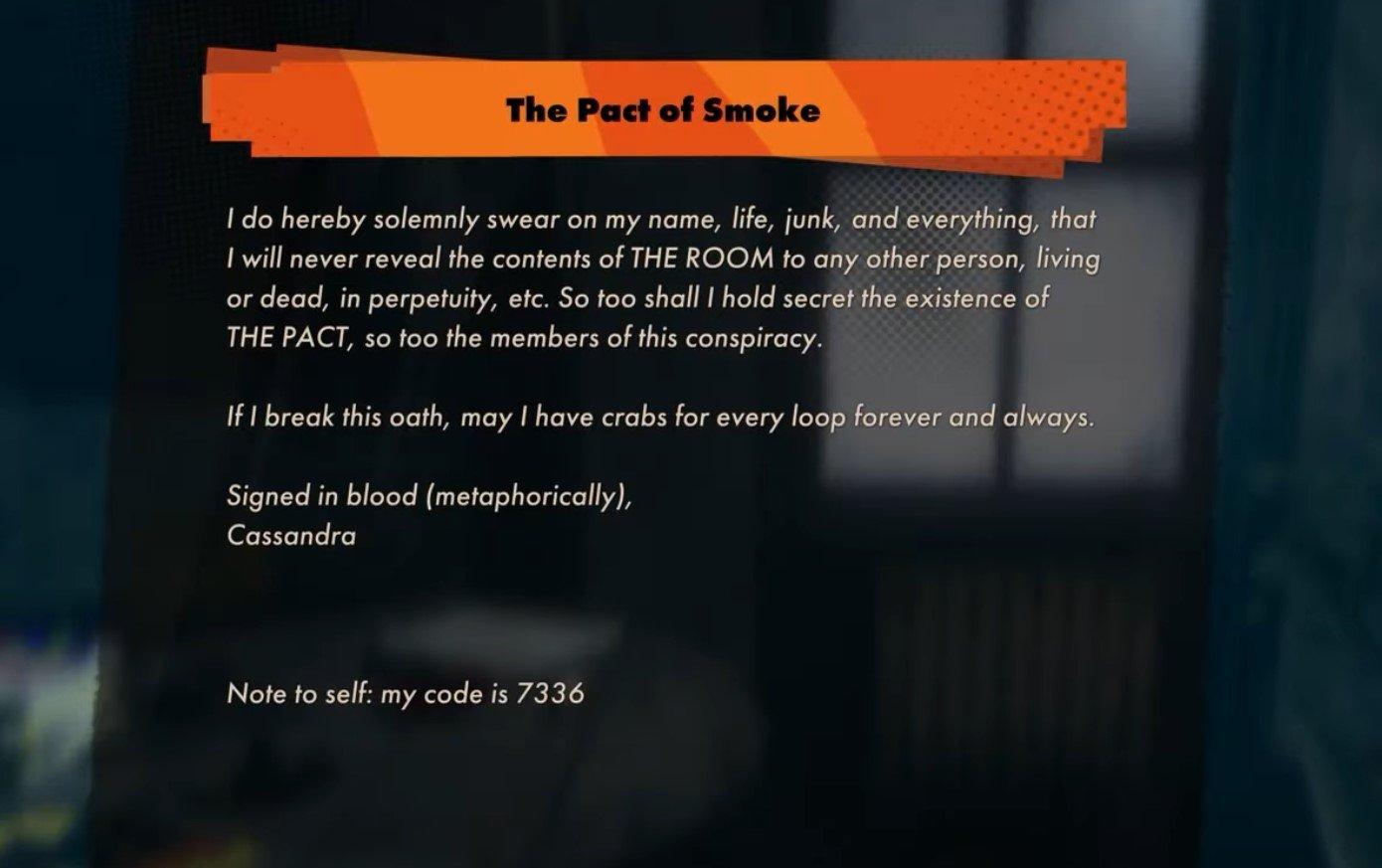 Deathloop Pact of the Smoke guide © Arkane Studios