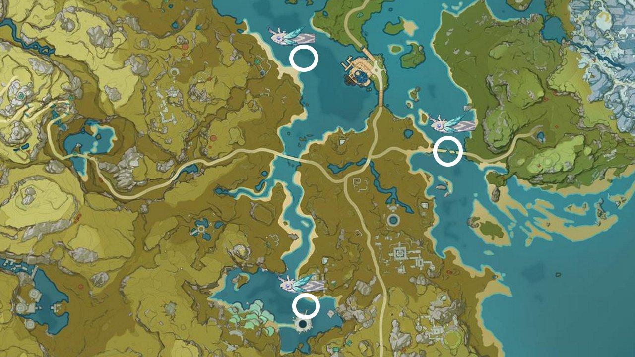 Genshin Impact rusty koi locations liyue guide