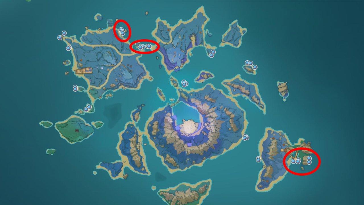 Genshin Impact Sea Ganoderma locations seirai island