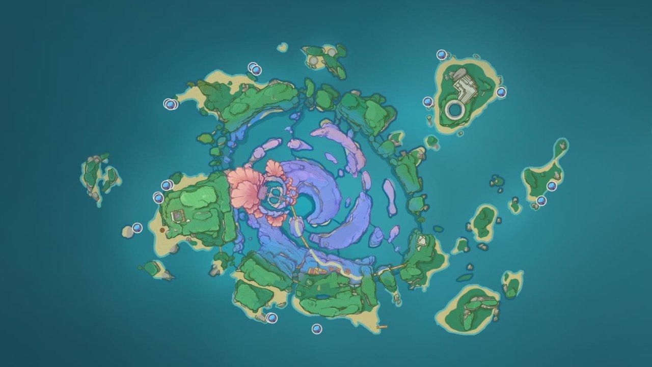 Sea Ganoderma locations inazume watatsumi island