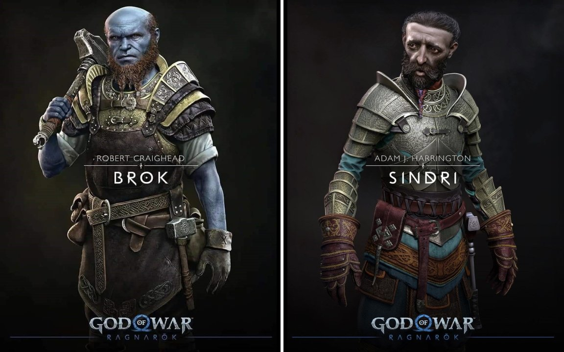 God of war cast characters brok sindri voice actor