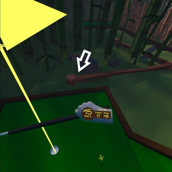 Walkabout Mini golf lost balls cherry blossom locations hole 15