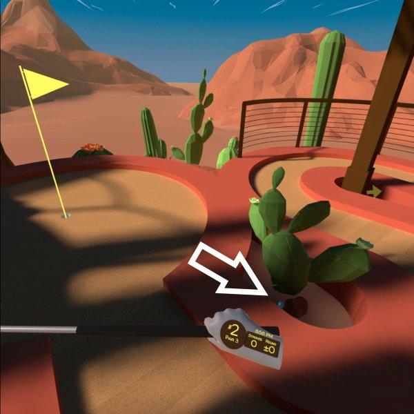 Walkabout Mini Golf lost balls guide Arizona Modern Hole 2