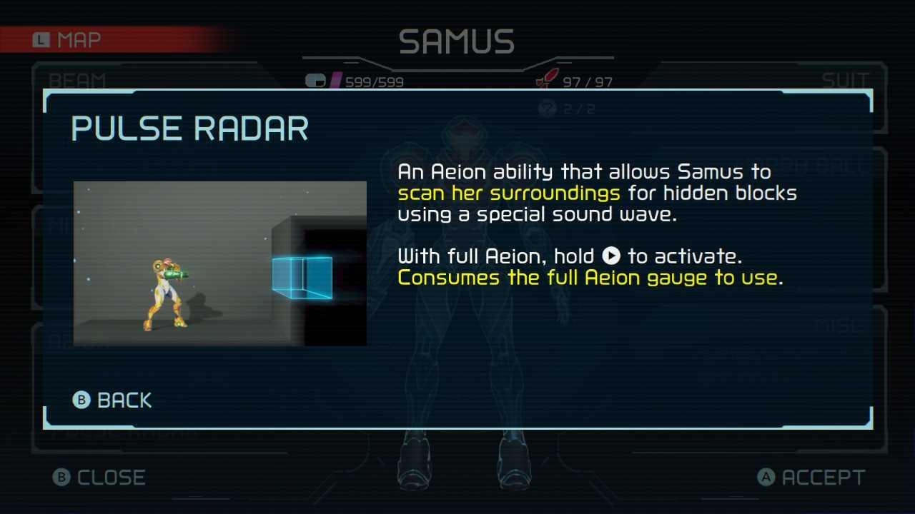 Metroid Dread Aeion Abilities Pulse Radar
