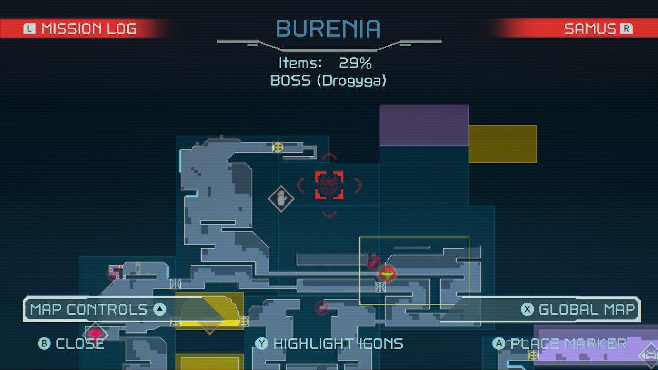 Metroid Dread burenia drogyga boss fight guide