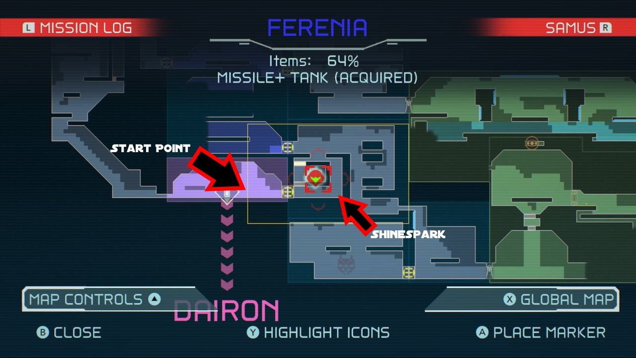 Metroid Dread Ferenia Speed Booster Puzzle solution 2