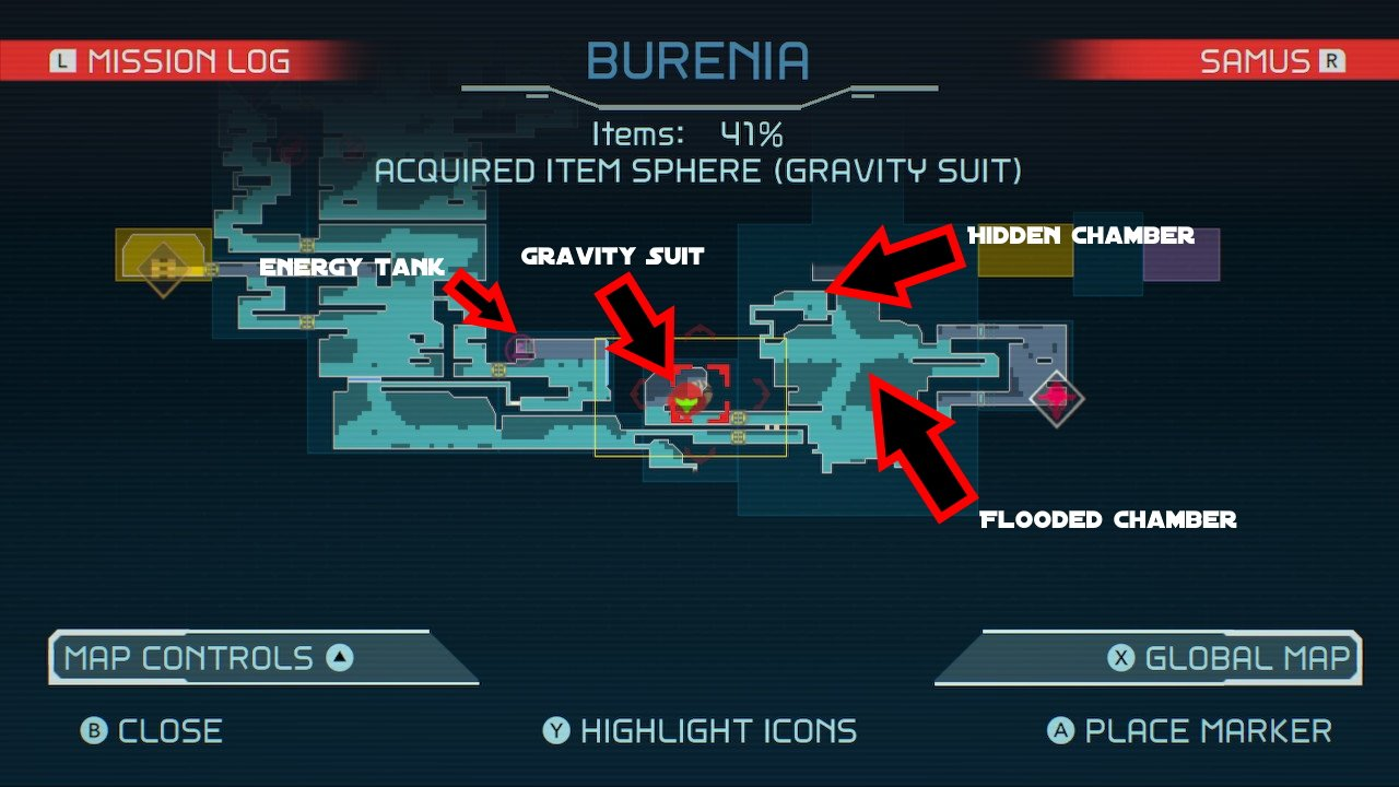 Metroid Dread how to get the gravity suit guide