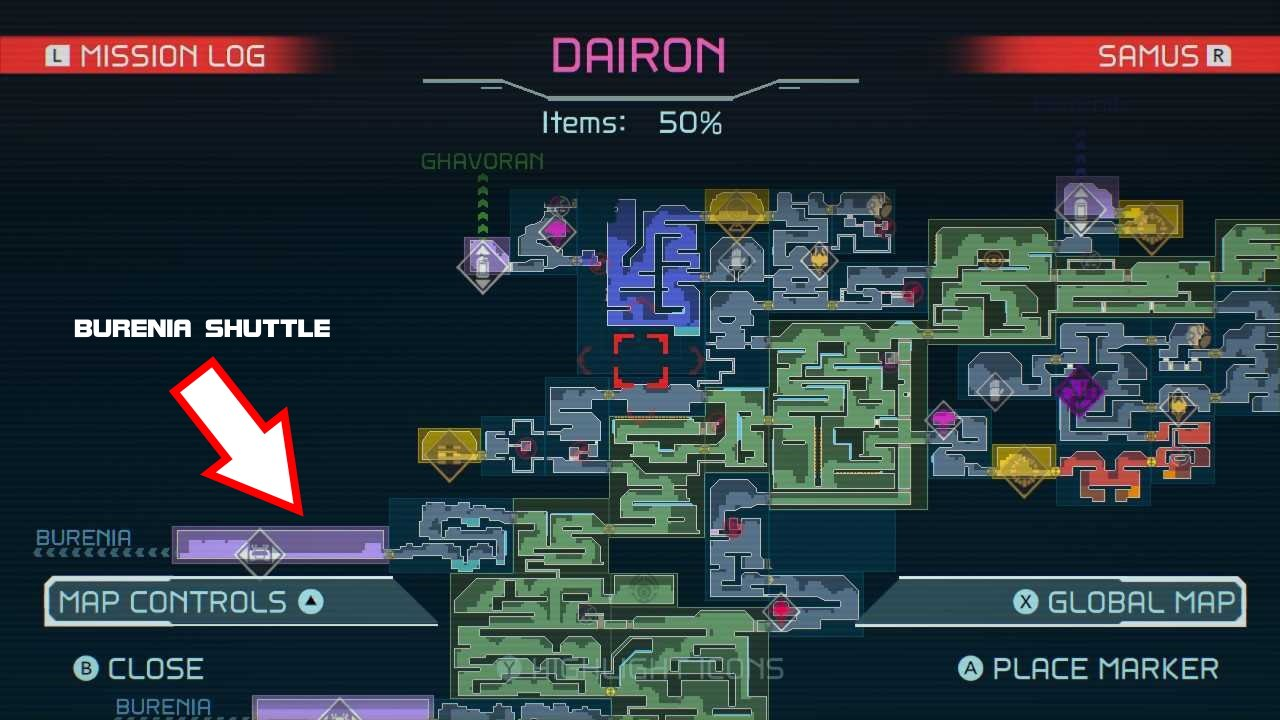 Metroid Dread where to go after diffusion beam