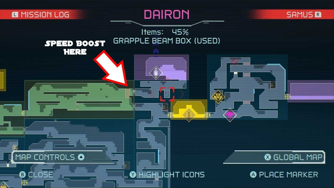 Metroid Dread Where to go after Grapple Beam