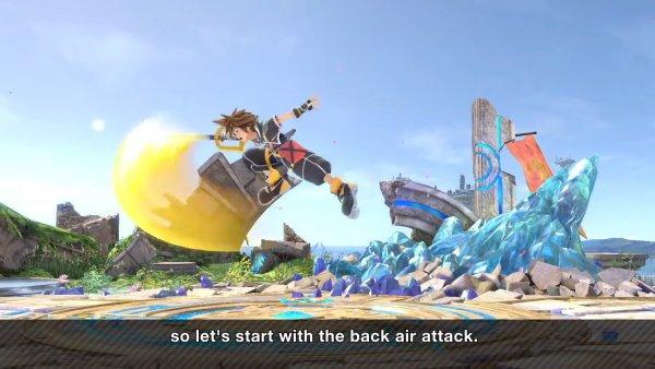 Sora moveset Smash Ultimate bair