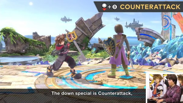 Sora moveset Smash Ultimate down b counterattack