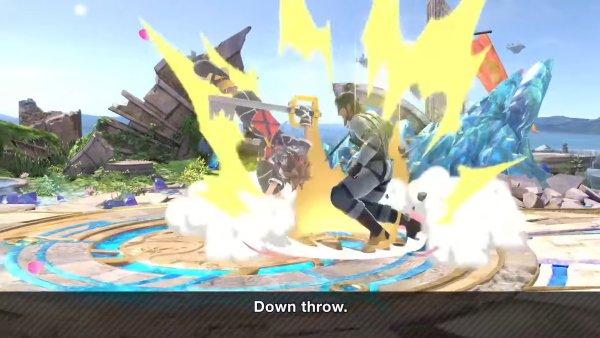 Sora moveset Smash Ultimate down throw