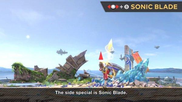 Sora moveset Smash Ultimate side b sonic blade
