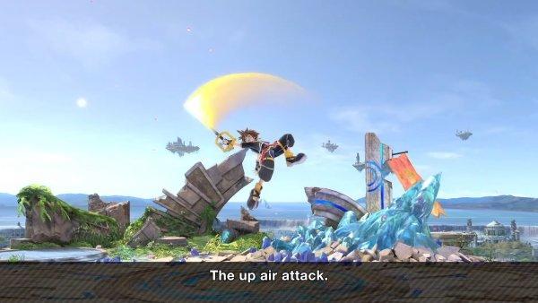 Sora moveset Smash Ultimate up air