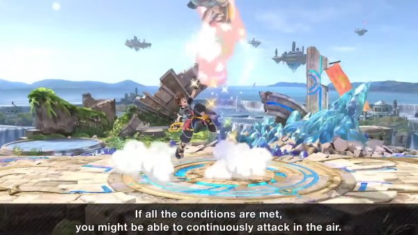 Sora moveset Smash Ultimate up throw