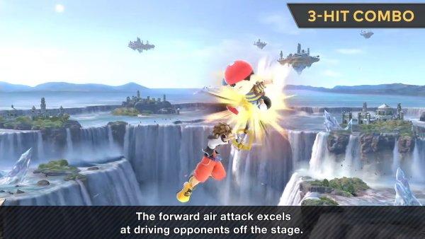Sora moveset Smash Ultimate forward air